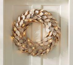 Lit Birch Wreath | Pottery Barn                                                                                                                                                                                 More
