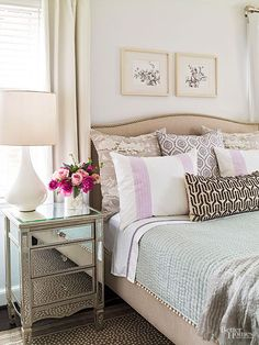 Bedroom with lavende