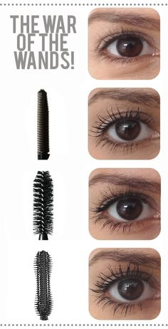 Mascara wands, really make a difference!