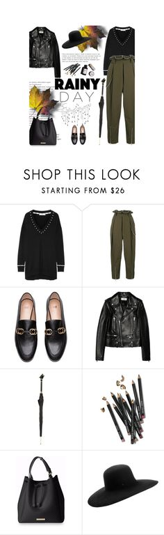 """""""Rainy Day"""" by amimcqueen ❤ liked on Polyvore featuring Givenchy, Alexander Wang, Yves Saint Laurent, Pasotti Ombrelli, Bobbi Brown Cosmetics, Garance Doré and Maison Michel"""