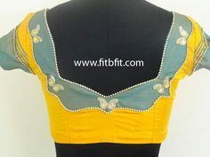 Simple Designer Blouses | FITBFIT,A Place for Bridal Blouses By Professional Designer
