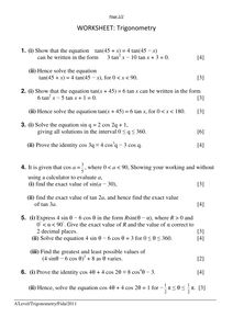 Printables Trigonometry Worksheets Pdf trigonometry worksheets pdf syndeomedia activities and on pinterest