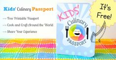 Kids Culinary Passport - Free Printable to Cook Your Way Around the World this summer! via Inner Child Food Summer Activities For Kids, Fun Activities, Projects For Kids, Crafts For Kids, My Father's World, Thinking Day, Kids Corner, Inner Child, History Class