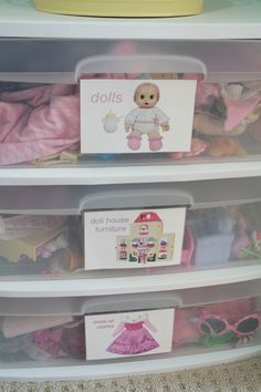 Great blog with tons of ideas in general, like the kids closet organizing with pictured labels!
