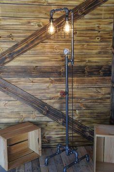 Edison Age Floor Lamp, Vintage Antique Industrial Steampunk light, Bulb cages,