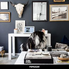 Apartment 34 How To Incorporate a Home Office into Your Living Room Home Office Space, Home Office Design, Home Office Decor, House Design, Home Decor, Office Designs, Office Workspace, Interior And Exterior, Interior Design