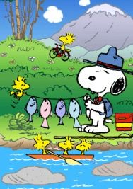 Snoopy, Woodstock, and Friends After a Day of Fishing Snoopy Images, Snoopy Pictures, Peanuts Cartoon, Peanuts Snoopy, Snoopy Love, Snoopy And Woodstock, Cartoon Network Adventure Time, Adventure Time Anime, Good Morning Happy Thursday
