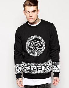 Stephen James Jaded London Sweatshirt With Lion Print ❤️