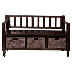 Found it at Wayfair - Dakota Entryway Bench in Brown