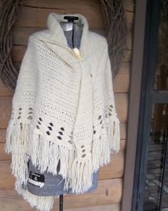 I didn't make this one but have made similar-this is a vintage cape-100% wool. Labor-intensive and beautiful.