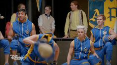 Descendants 2 gif | Lonnie reveals herself to the Jay's swords team