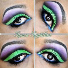 Riddler and/or Joker eye makeup
