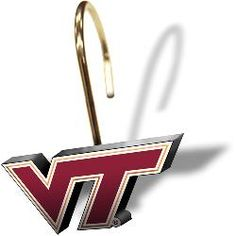 NCAA Virginia Tech Hokies Shower Curtain Rings, Set of 12