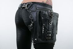 Shark Bite Holster and Hip Bag in Black by JungleTribe on Etsy, $319.00