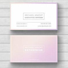 Simple minimal business card Free Psd