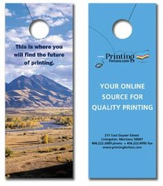 Convey Important Messages Through Door Hangers Doorhangers
