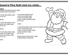 Le pere noel vient me visiter page 2 Core French, Nouvel An, Comics, Decoration, French Tips, French People, Rhymes Songs, Kids Songs, Black Belt
