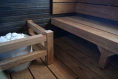 Hyvinkään Asuntomessut 2013 Saunas, Bench, Decor Ideas, Storage, Furniture, Home Decor, Purse Storage, Decoration Home, Room Decor