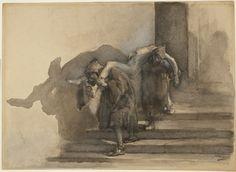 Gaetano Previati The Monatti, illustration to Alessandro Manzoni's I Promessi Sposi (2007-16)   Princeton University Art Museum