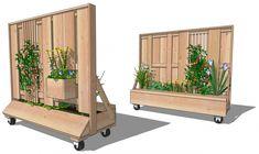 Verrijdbare afscheiding en verplaatsbare schutting met ruimte voor groen en natuur