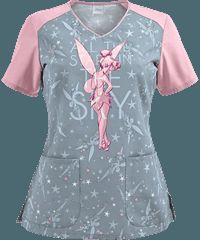 Cherokee Tooniforms Scrubs Stars In The Sky V-Neck Top Cute Medical Scrubs, Nurse Scrubs, Cute Scrubs Uniform, Sky V, Medical Uniforms, Nursing Tops, Star Sky, Hot Outfits, Scrub Tops