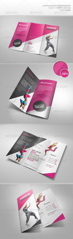 Bifold Brochure-Dance Studio | Corporate Brochure, Dance Studio