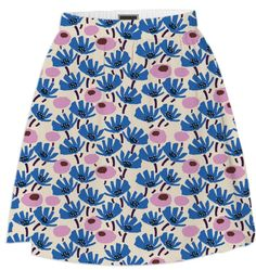 Graphical Blooms Col 4 from Print All Over Me skirt, print