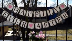 Wedding banner   HAPPILY EVER AFTER  Bridal Shower by Bannercellar