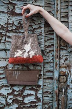 model_ 0407. clutch. bag. woolen accessorize. от LoveMeWoolMe