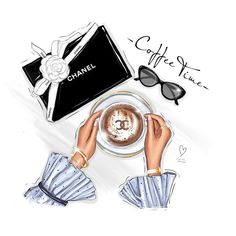 Buy and sell new and pre-owned luxury clothes and accessories. Only original products! Hats For Sale, Hats For Men, Graphisches Design, Beauty Illustration, Fashion Illustration Chanel, Illustration Artists, Girly Drawings, Have A Good Weekend, Fashion Wallpaper
