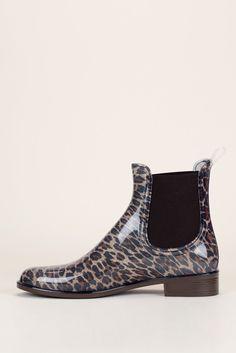 Bottines élastiquées caoutchouc vernis imprimé léopard 3
