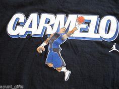 Carmelo Anthony Cotton T-shirt Size XL NBA Basketball Mello New York NY Knicks