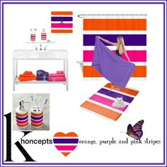 Sold toothbrush and soap set Khoncepts Hearts orange, purple and pink stripes