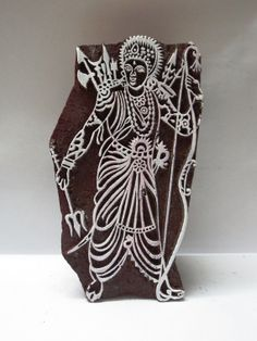 Indian wooden hand carved textile printing by heritagecollectible, $75.00