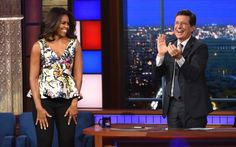 28sept2015----1st lady michelle obama on late night with stephen colbert
