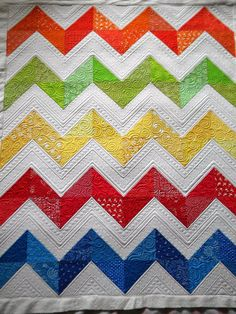 Sew Kind Of Wonderful: Lisa's Chevron Quilt