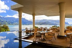 St. Regis Princeville in Hawaii - Wow! The best hotel we have ever stayed in. Luxurious and posh and the best view I have ever had from any balcony ever. Breathtaking. Located on Hanalei Bay in Kauai.