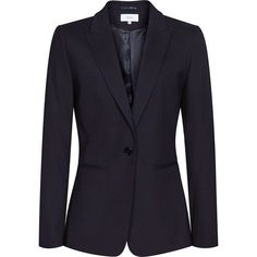 SINGLE-BREASTED BLAZER ($425) ❤ liked on Polyvore featuring outerwear,  jackets,