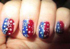 4th of July nail time!    Nail Polish = Nail Art!