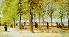 Vincent Van Gogh:Lane At The Jardin Du Luxembourg