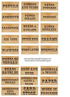 Free Printable Vintage Style Labels