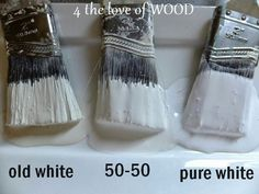old white and pure white Annie Sloan Chalk Paint Colors, Annie Sloan Paints, White Chalk Paint, Chalk Paint Chairs, Painted Chairs, Painted Furniture, Furniture Redo, Faux Painting, Painting Leather