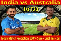 We provide 100 % sure today cricket match prediction tips by raja babu. Who will win today match IND vs AUS. Live score with ball by ball update. Live Cricket, Cricket Match, Who Will Win, Australia, India, Tips, Sports, Free, Hs Sports