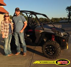 Thanks to Kristen and Kevin Price from Antoine AR for getting a 2017 Can Am Commander XT 800 @HattiesburgCycles