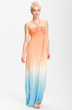 Maxi dress  Young, Fabulous & Broke 'Sadie' Tie Dye Halter Maxi Dress $185