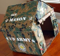 Army Valentine box. Cute for an older elementary boy.