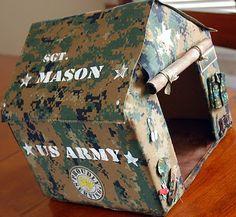 Army Valentine box. Cute for an older elementary boy.