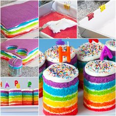 DIY Teeny Tiny Rainbow Cakes