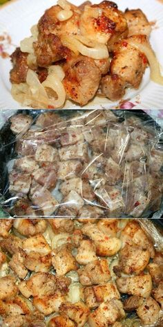 """Barbecue in the oven on the """"onion pillow"""" # quot … – Chicken Recipes Chicken Nugget Recipes, Baked Chicken Recipes, Kebab Recipes, Cooking Recipes, Healthy Recipes, Russian Recipes, My Favorite Food, Food Porn, Good Food"""