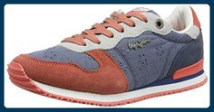 Pepe Jeans London Damen Gable Anglaise Sneaker, Blau (Ocean), 39 EU - Sneakers für frauen (*Partner-Link)
